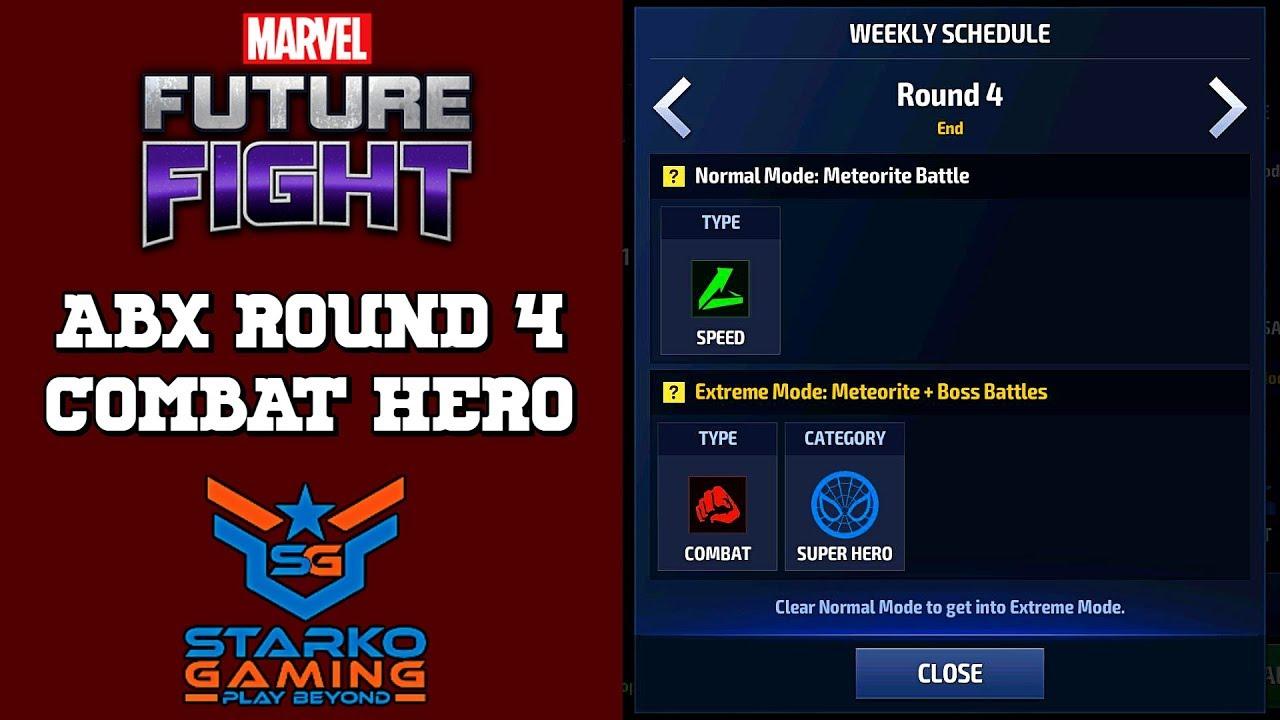 ABX ROUND 4   COMBAT HERO   MARVEL FUTURE FIGHT