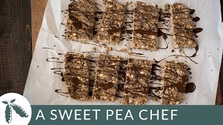 No Bake Chocolate Peanut Butter Protein Bars | A Sweet Pea Chef