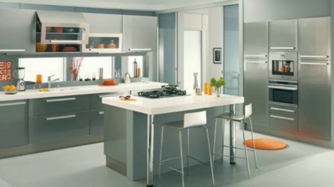 meuble cuisine gris anthracite youtube. Black Bedroom Furniture Sets. Home Design Ideas