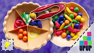 SUPER SORTING PIE | Learn colors, counting and fruit names for kids