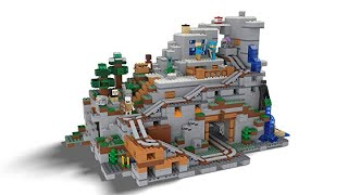 Ready for Mountain Biome? LEGO Minecraft The Mountain Cave 21137 Building Kit (2863 Piece)
