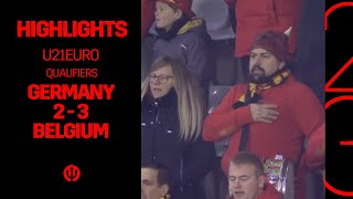 U21EURO Germany Belgium 2 3 Highlights