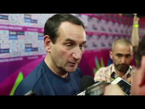 Coach K Talks to Media About USA Basketball's Upcoming Game vs Slovenia