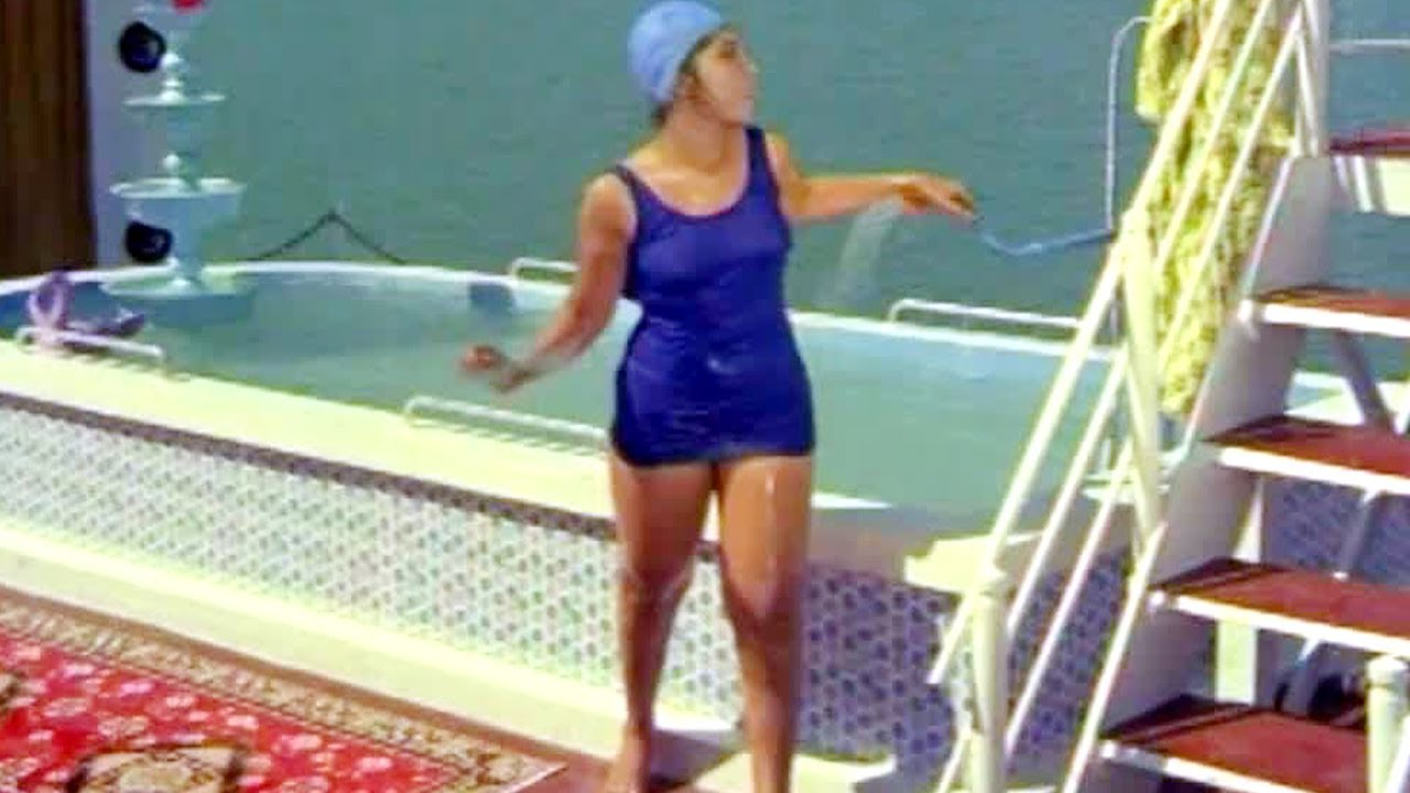 Comedy Kings Latha Bathing In Swimming Pool Anr Nagabhushanam Rajababu Youtube