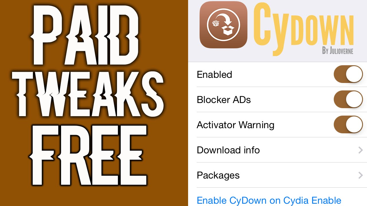 HOW TO GET PAID CYDIA TWEAKS FOR FREE | HOW TO GET CYDOWN | HOW TO GET FREE  TWEAKS | IOS 9 2-9 3 3 | by LeoAndKoko