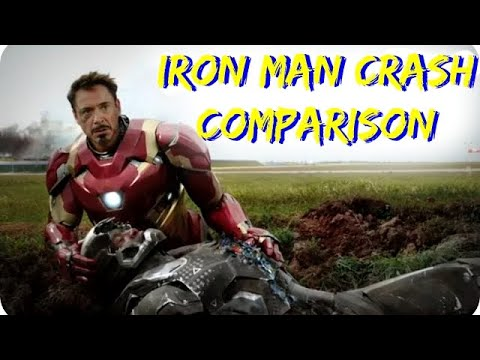 Civil War:  Iron Man / War Machine Crash Comparison