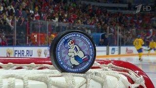 Первый канал в прямом эфире покажет хоккейный матч сборных России и Финляндии.