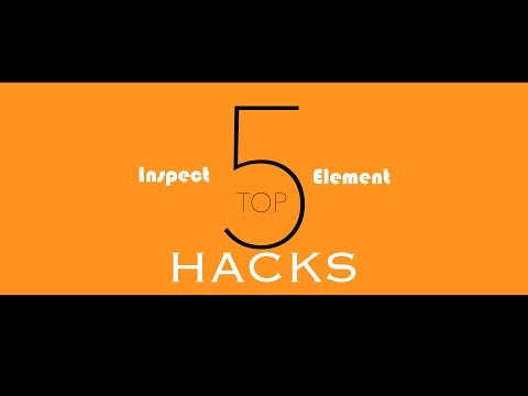Top 5 BEST Inspect Element HACKS!