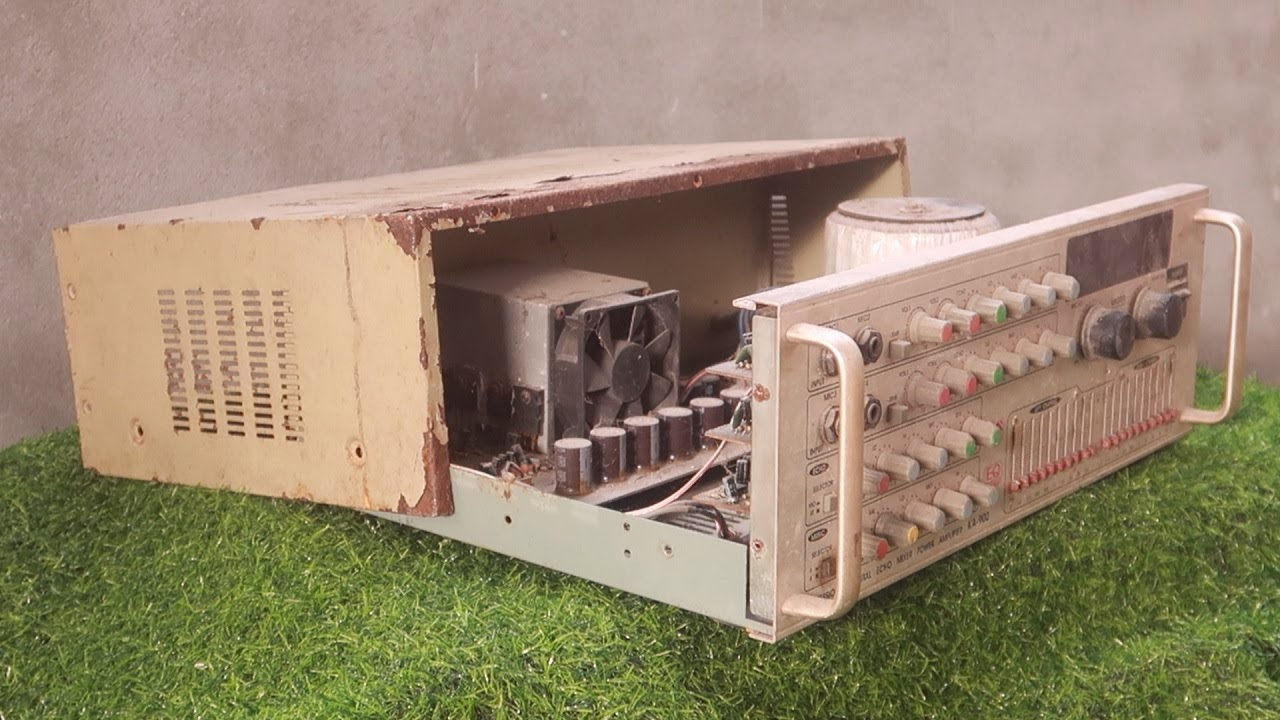 Download Restoration very old 2-channel amplifier // Rehabilitate everything as it was