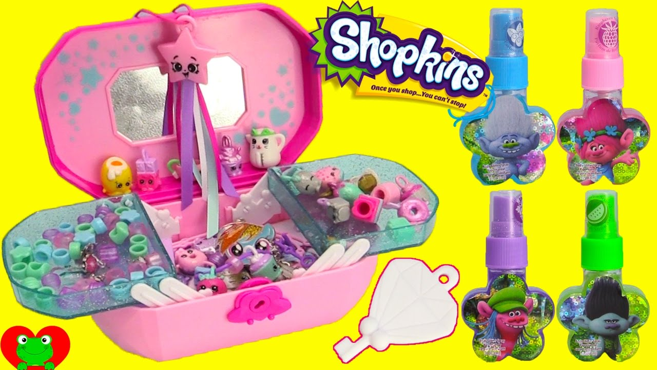 shopkins jewelry box collection with lip balms nail po