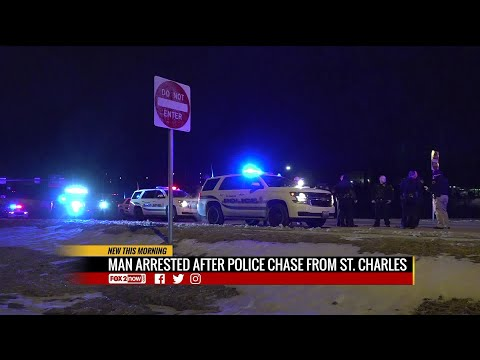 Man arrested after police chase from St.Charles to North County