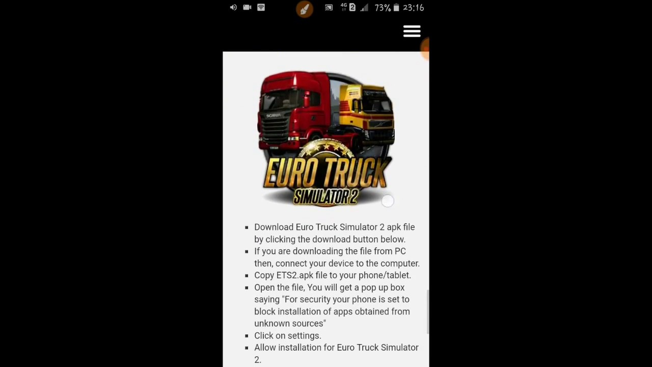 Euro Truk Simulator 2 By Android & Ios Download Now