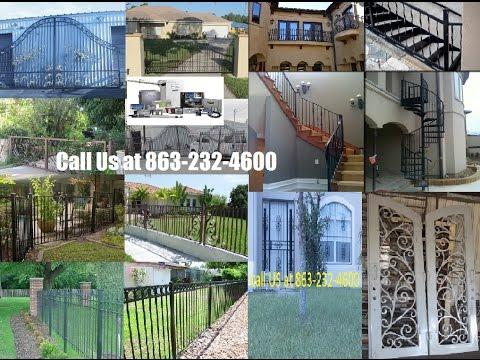 Custom Wrought Iron Steel Gates Design Orlando Fence Entry Doors