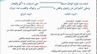 شرح قصيدة في الحنين إلى عمان الجزء الثاني
