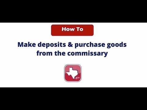 TDCJ Commissary Purchase & Trust Fund Deposit Demo Video