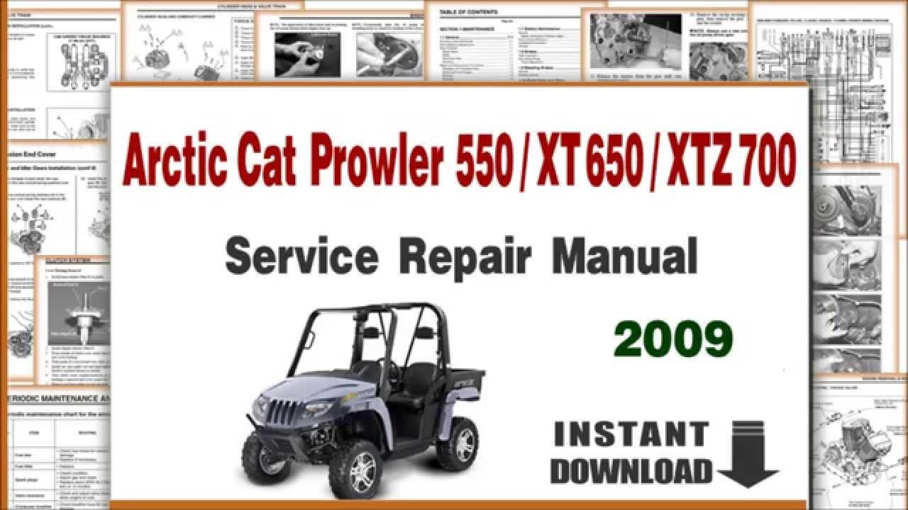 arctic cat prowler 550 xt 650 xtx 700 service repair manual 2009 rh youtube com 1990 arctic cat prowler manual arctic cat prowler service manual