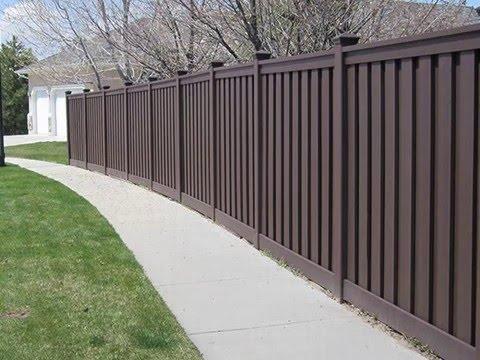 Composite Plastic Wood Fence Panel Youtube