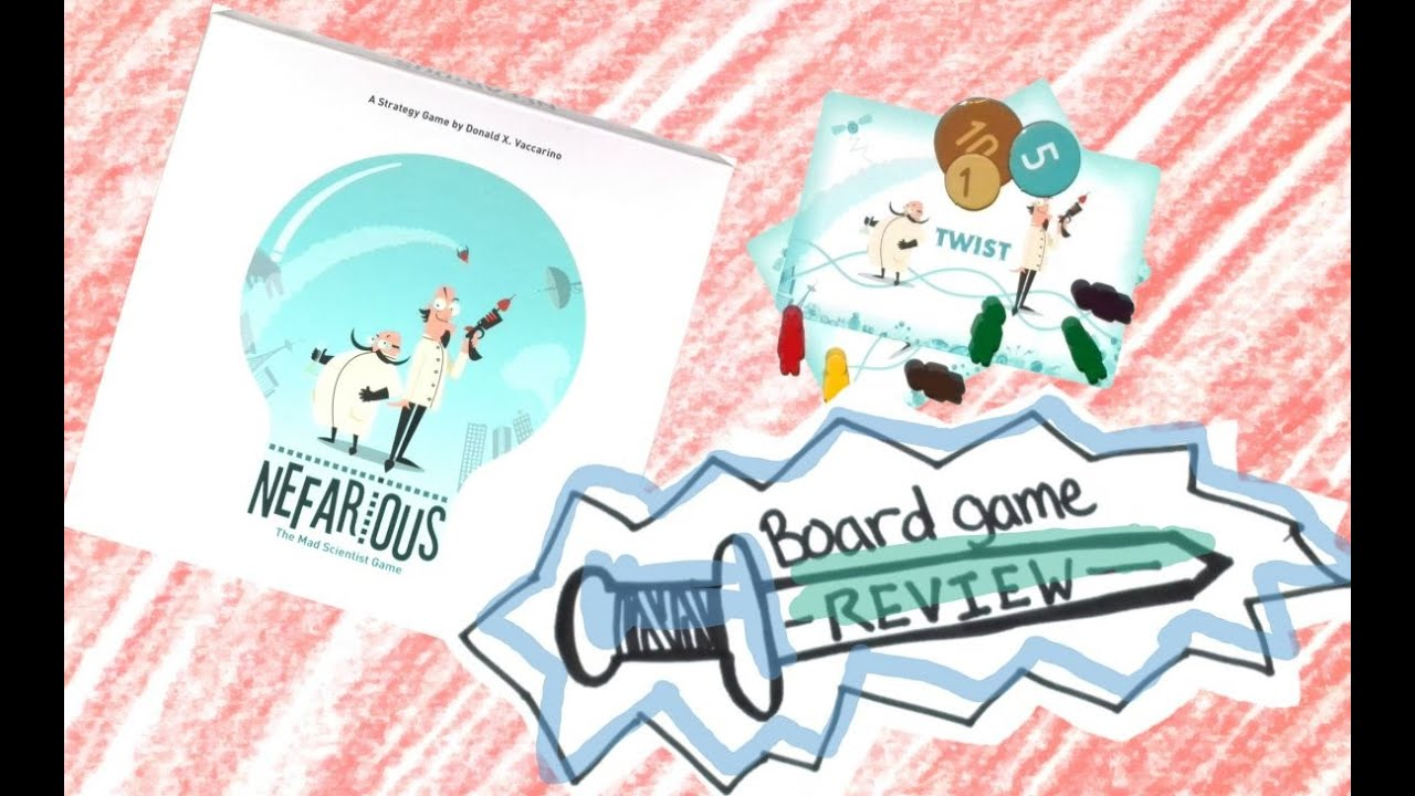 Nefarious Short Board Game Review Youtube