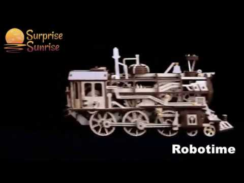Steam Punk Engine  – Wooden DIY Robot Kit