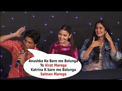 shah rukh khan makes fun of anushka sharma  Talk About Virat Kohli
