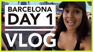 VLOG DAY 1: ARRIVING IN BARCELONA!!!