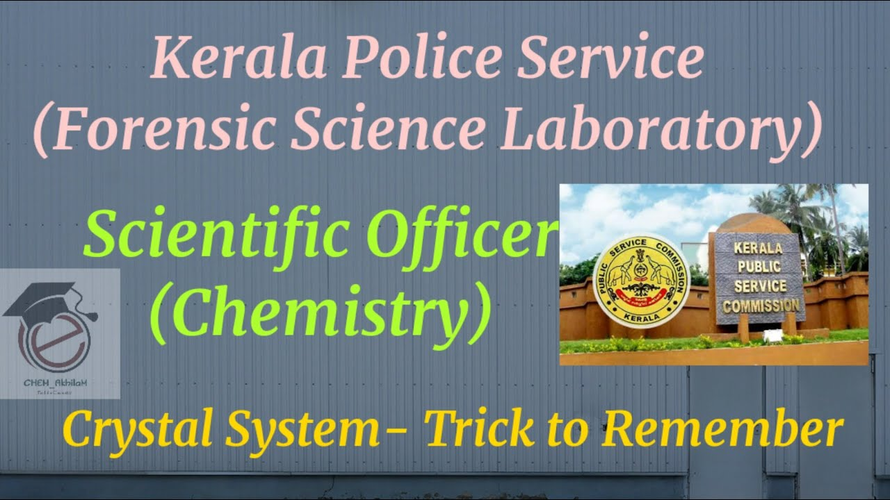 Kerala Ps Forensic Science Laboratory Scientific Officer Chemistry Crystal System Tricks Youtube