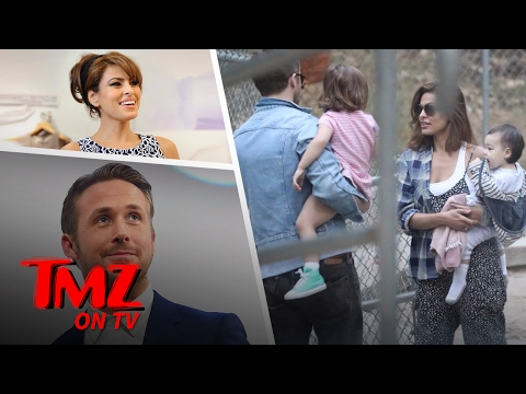 We Got Ryan Gosling Out With Eva Mendes and The Kids!   TMZ TV