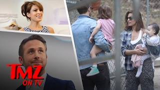 we got ryan gosling out with eva mendes and the kids tmz tv