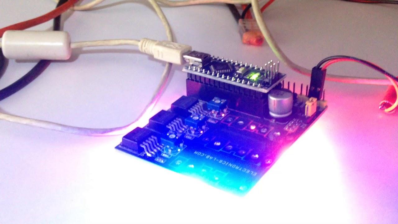 High Power Rgb Led Driver Using Arduino Nano Youtube Wiring