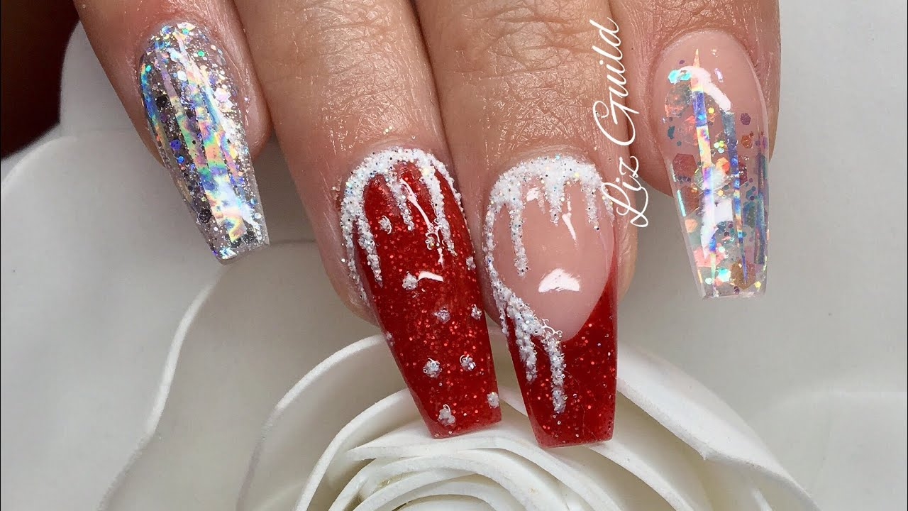 Acrylic Nails | Mrs Claus | Christmas