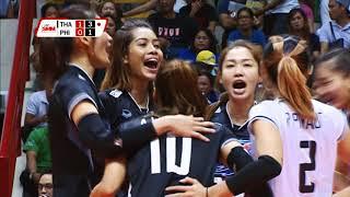 """ไฮไลท์ """"เอสเอ็มเอ็ม"""" วอลเลย์บอลหญิงชิงแชมป์เอเชีย 2017 : ไทย [3] ชนะ ฟิลิปปินส์ [0]"""