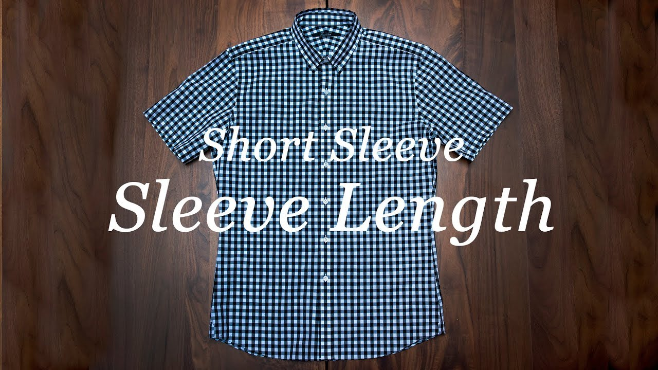 How To Measure Your Shirt: Short Sleeve Length