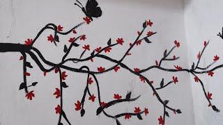 Wall Decoration # Diy # Acrylic Painting # Easy And Beautiful Wall Art Tree Design