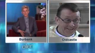 Ellen Degeneres interviews Father Kelly