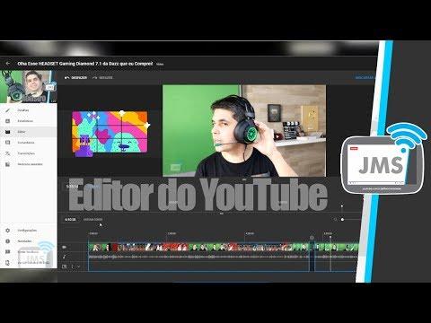 O NOVO EDITOR DE VIDEOS ONLINE do YouTube Studio Chegou