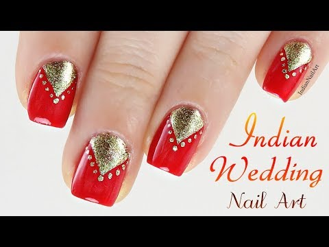 Easy Indian Wedding Nail Art Design In Hindi | इंडियन वेडिंग