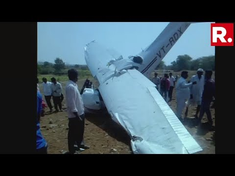 Trainee Aircraft Crashes In Indapur, Pune