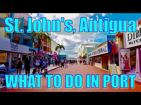 Walking in St. John's, Antigua - What to do on Your Day in P