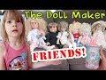 The Doll Maker FRIENDS visit My PB and J! Doll Maker Scavenger Hunt Baby Secrets Bottle Surprise