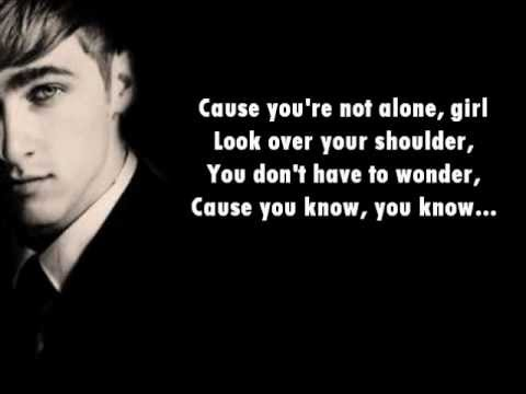 Big Time Rush- You're Not Alone Lyrics On Screen