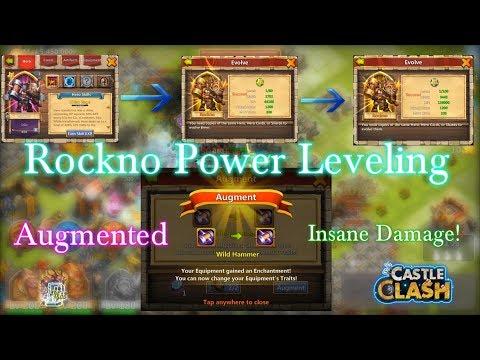 Castle Clash - Rockno Double Evolved_ Equipment Augmented_ Insane Damage!!