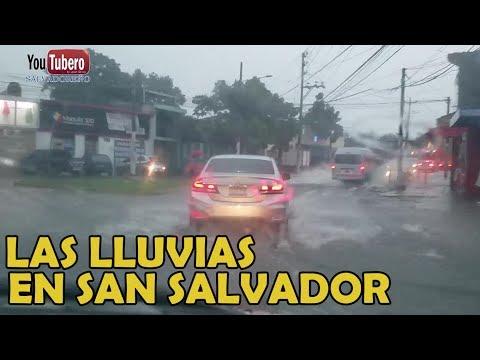 [YOUTUBERO] Los porrasos  de lluvia en la Capital Salvadoreña videos de el salvador