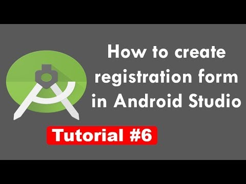 How to create registration form in android studio in hindi - YouTube