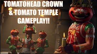 """'NOUVEAU' SAVAGE """"TOMATOHEAD CROWN"""" SKIN - """"TOMATO TEMPLE"""" POI GAMEPLAY!! (Fortnite)"""