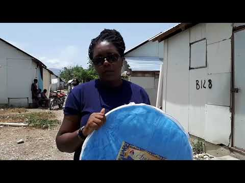 IDP from the 2010 earthquake- Marguerite-CCCM Project Officer in the camp Tabarre ISA