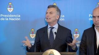 Mauricio Macri encabeza la apertura de jornada de trabajo sobre políticas contra el narcotráfico