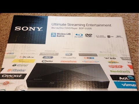 Unboxing the Sony BDPS3200 smart BlueRay player