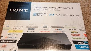 Unboxing the Sony BDP-S3200 smart BlueRay player