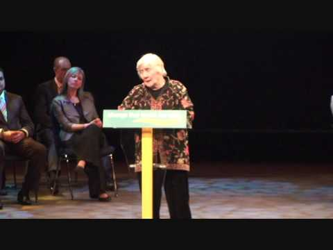 Shirley Williams at Liberal Democrat conference rally in Birmingham March 2010