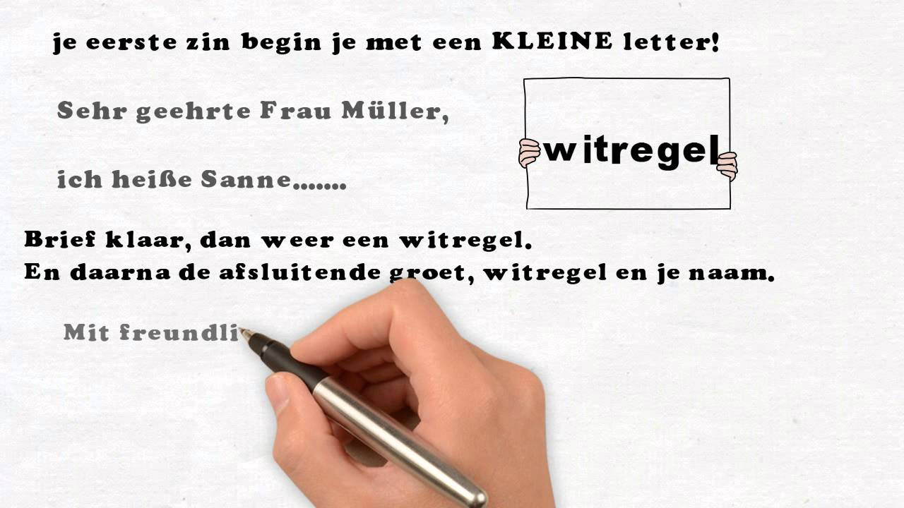 brief in duits voorbeeld Zakelijke brief Duits   YouTube
